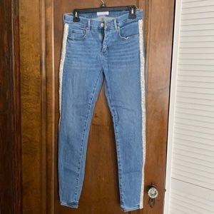 Loft Skinny Sparkle Embellished Jeans